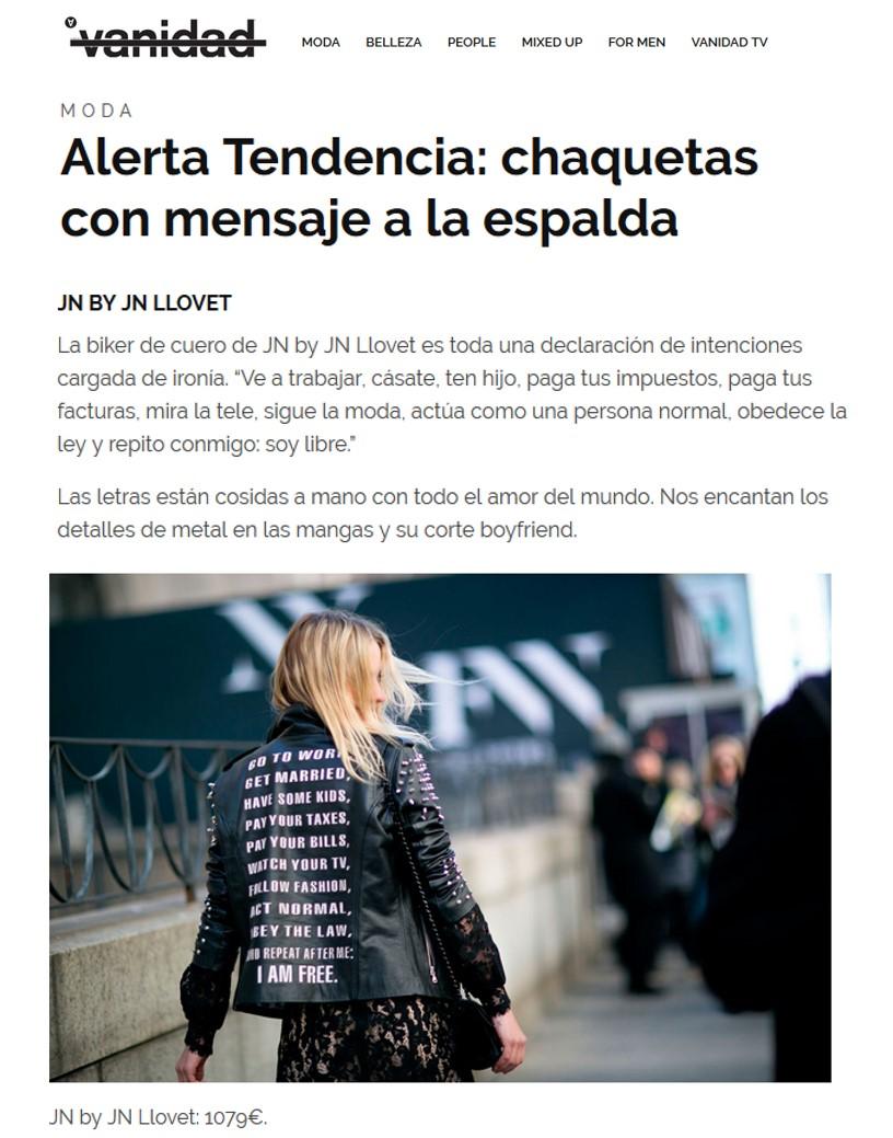 Chaqueta JN by JN LLOvet- Vanidad